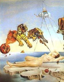 Dali, Dream Caused by the Flight of a Bumblebee around a Pomegranate a Second Before Awakening