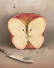 """Butterfly Apple,"" Vladimir Kush, 1978"