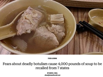 Botulism fears cause recall of soup that went to 7 states | Miami Herald