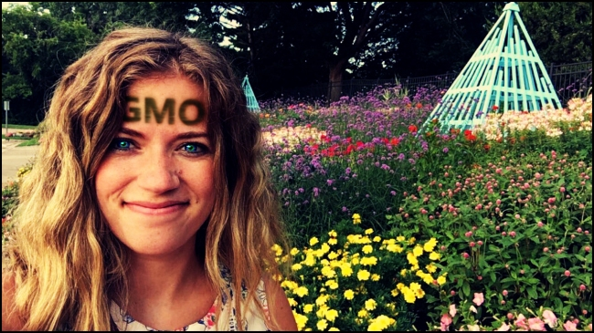 She's not actually genetically modified. Just a big fan of GMOs.